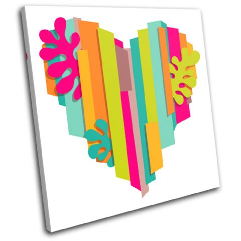 Heart multi colour Love - 13-0694(00B)-SG11-LO